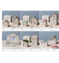 Portaconfetti a bustina in cotone linea Home Sweet Home (91576)