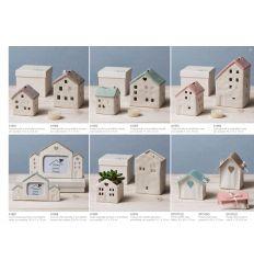 Sacchetto a forma di casetta piccola in cotone linea Home Sweet Home (91577)