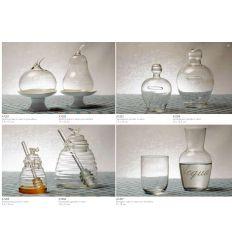 Alzatina mela vetro base porcellana + SC65 (A1201-B)