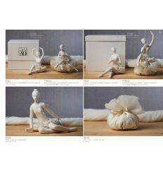 Ballerina piccola in porcellana in 2 posizioni assortite linea Tutù (P7301)