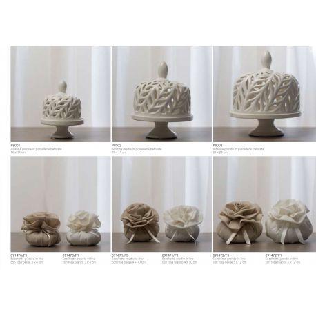 Alzatina traforata piccola in porcellana (P8001)