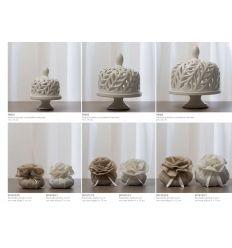 Alzatina traforata media in porcellana (P8002)