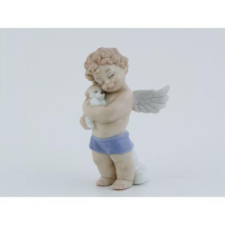 ANGELO IN PIEDI CON CUCCIOLO (D7391)